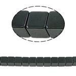 Nicht-magnetische Hämatit Perlen, Non- magnetische Hämatit, Würfel, schwarz, Grade A, 6x6mm, Bohrung:ca. 1mm, Länge:15.5 ZollInch, 10SträngeStrang/Menge, verkauft von Menge