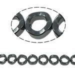 Nicht-magnetische Hämatit Perlen, Non- magnetische Hämatit, Kreisring, schwarz, Grade A, 12x5mm, Bohrung:ca. 1.5mm, Länge:15.5 ZollInch, 10SträngeStrang/Menge, verkauft von Menge