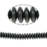 Beads magnetik kuqe e mbylltë, Rondelle, e zezë, Një, 8x3mm, : 2mm, :15.5Inç, 10Fillesat/Shumë,  Shumë
