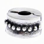 Tunxh European Clip, Rondelle, asnjë, , nikel çojë \x26amp; kadmium falas, 10x6mm, : 3mm, 10PC/Qese,  Qese