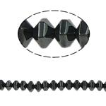 Non-Beads magnetik kuqe e mbylltë, Jo-magnetike kuqe e mbylltë, Bicone, e zezë, Një, 6x4mm, : 1.5mm, :15.5Inç, 10Fillesat/Shumë,  Shumë