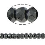 Non-Beads magnetik kuqe e mbylltë, Jo-magnetike kuqe e mbylltë, Rondelle, e zezë, Një, 8x6mm, : 1.5mm, :15.5Inç, 10Fillesat/Shumë,  Shumë