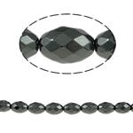 Non-Beads magnetik kuqe e mbylltë, Jo-magnetike kuqe e mbylltë, Oval, e zezë, Një, 8x6mm, : 1mm, :15.5Inç, 10Fillesat/Shumë,  Shumë