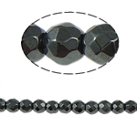 Beads magnetik kuqe e mbylltë, Round, e zezë, Një, 2x2mm, : 1mm, :15.5Inç, 10Fillesat/Shumë,  Shumë