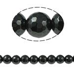 Non-Beads magnetik kuqe e mbylltë, Jo-magnetike kuqe e mbylltë, Round, e zezë, Një, 14x14mm, : 1mm, :15.5Inç, 10Fillesat/Shumë,  Shumë