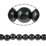 Beads magnetik kuqe e mbylltë, Round, e zezë, Një, 14mm, : 2mm, :15.5Inç, 10Fillesat/Shumë,  Shumë