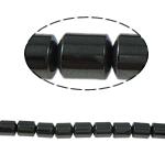 Non-Beads magnetik kuqe e mbylltë, Jo-magnetike kuqe e mbylltë, Kolonë, e zezë, Një, 4x5mm, : 1mm, :15.5Inç, 10Fillesat/Shumë,  Shumë