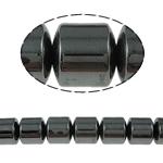 Magnetische Hämatit Perlen, Non- magnetische Hämatit, Zylinder, schwarz, Grade A, 10x10mm, Bohrung:ca. 1.5mm, Länge:15.5 ZollInch, 10SträngeStrang/Menge, verkauft von Menge