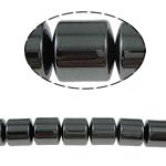 Beads magnetik kuqe e mbylltë, Kolonë, e zezë, Një, 12x12mm, : 1.5mm, :15.5Inç, 10Fillesat/Shumë,  Shumë
