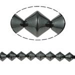 Beads magnetik kuqe e mbylltë, e zezë, Një, 8x8mm, : 1.5mm, :15.5Inç, 10Fillesat/Shumë,  Shumë