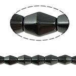 Beads magnetik kuqe e mbylltë, Bicone, e zezë, Një, 8x12mm, : 1.5mm, :15.5Inç, 10Fillesat/Shumë,  Shumë