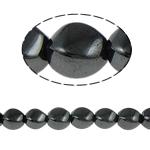 Beads magnetik kuqe e mbylltë, Kthesë, e zezë, Një, 10x12mm, : 1.5mm, :15.5Inç, 10Fillesat/Shumë,  Shumë