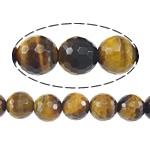 Syri Tiger Beads, Round, 8mm, : 1mm, : 15.5Inç, 5Fillesat/Shumë,  Shumë