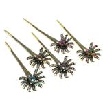 Stick flokët, Alloy zink, with Tunxh, i praruar, me diamant i rremë, dritë gri, , nikel çojë \x26amp; kadmium falas, 145x51x15mm, 12PC/Qese,  Qese