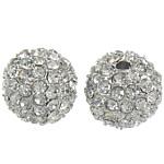 Beads bizhuteri Diamant i rremë, Round, asnjë, me diamant i rremë, Kristal, 12mm, : 2mm, 10PC/Qese,  Qese