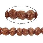 Beads Goldstone, Nuggets, 3x4mm, : 1mm, : 15Inç, 10Fillesat/Shumë,  Shumë