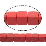 Beads Natyrore Coral, Coral sintetike, Kub, asnjë, i kuq, 12x12x12mm, : 1.5mm, : 15.5Inç, 33PC/Fije floku,  15.5Inç,