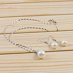 Natyrore kulturuar Pearl ujërave të ëmbla bizhuteri Sets, Pearl kulturuar ujërave të ëmbla, with 925 Sterling Silver, Round, natyror, e bardhë, 11-12, -9-10mm, :16.5Inç,  I vendosur