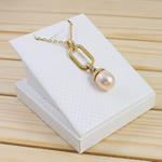 925 Sterling Silver gjerdan perlash, Pearl kulturuar ujërave të ëmbla, with Diamant i rremë & 925 Sterling Silver, Oval, natyror, rozë, 12-13mm, :17Inç,  17Inç,