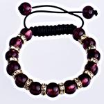 Lampwork Shamballa Bracelets, Cord Wax, 10mm, :7Inç, 10Fillesat/Qese,  Qese
