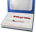 Detit të Jugut Vath Shell, Jug Deti Shell, Round, asnjë, me diamant i rremë, ngjyra të përziera, 8-9mm, 37mm, 36Çiftet/Kuti,  Kuti