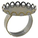 Bezel Brass Ring Base, Tunxh, Ngjyra antike bronz i praruar, asnjë, , nikel çojë \x26amp; kadmium falas, 21x21x3mm, 20x20mm, : 18mm, : 20mm, :7, 500PC/Qese,  Qese