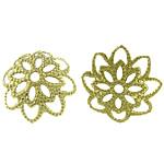 Messing Perlenkappe, Blume, hohl, originale Farbe, frei von Blei & Kadmium, 10x10mm, 5000PCs/Tasche, verkauft von Tasche