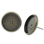 Vath bronzi Post, Tunxh, Ngjyra antike bronz i praruar, asnjë, , nikel çojë \x26amp; kadmium falas, 12x12x2mm, 10x10mm, 500Çiftet/Qese,  Qese