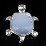 Deti Pendants opal, Deti Opal, with Tunxh, Kafshë, 43x36x7mm, : 7mm, 10PC/Qese,  Qese