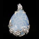 Deti Pendants opal, Deti Opal, with Tunxh, Lot, 44x26x7mm, : 7mm, 10PC/Qese,  Qese