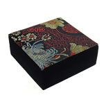 Saten byzylyk Box, with Velveteen, Katror, 110x110x42mm, 12PC/Qese,  Qese