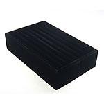 Display Velveteen Ring, Drejtkëndësh, asnjë, e zezë, 215x135x52mm, 5PC/Shumë,  Shumë
