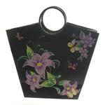 Shopping Bag, Letër, Trapez, i përzier, e zezë, 315x110x3mm, 12PC/Qese,  Qese