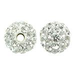 Çekë Beads diamant i rremë, Round, asnjë, me diamant i rremë, Kristal, PP8, 6mm, : 1mm, 10PC/Qese,  Qese
