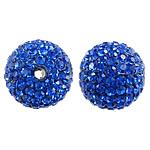 Çekë Beads diamant i rremë, Round, asnjë, me diamant i rremë, Dark Sapphire, PP11, 10mm, : 2mm, 10PC/Qese,  Qese