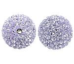 Tschechische Strass Perlen, Lehm pflastern, rund, verschiedene Größen vorhanden & mit tschechischem Strass, Bohrung:ca. 2mm, 10PCs/Tasche, verkauft von Tasche
