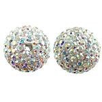 Çekë Beads diamant i rremë, Round, asnjë, me diamant i rremë, argjend, PP13, 14mm, : 2mm, 10PC/Qese,  Qese