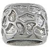 Edelstahl European Perlen, Rondell, ohne troll, originale Farbe, 15x12mm, Bohrung:ca. 7x11mm, 20PCs/Tasche, verkauft von Tasche