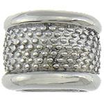 Stainless Steel Beads European, Rondelle, pa karrem, 16.50x12.50mm, : 7x11mm, 20PC/Qese,  Qese