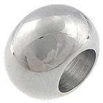 Stainless Steel Beads European, Rondelle, pa karrem, 12x8mm, : 6mm, 50PC/Qese,  Qese