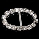 Diamant i rremë shtrëngoj, Tunxh, Oval, asnjë, me diamant i rremë, asnjë, , nikel çojë \x26amp; kadmium falas, 22x14x2.50mm, 50PC/Qese,  Qese