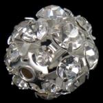 Beads bizhuteri Diamant i rremë, Round, asnjë, me diamant i rremë, Kristal, 16x16mm, : 2mm, 30PC/Qese,  Qese