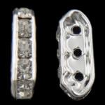 Ndarësit diamant i rremë, Oval, Kristal, 7x18x4mm, : 2mm, 200PC/Qese,  Qese