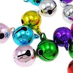 Tunxh Bell varëse, pikturë, ngjyra të përziera, , nikel çojë \x26amp; kadmium falas, 13x10mm, : 2mm, 2000PC/Qese,  Qese
