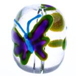 Krishtlindjeve Glass Beads, 17x14.50mm, : 2mm,  PC