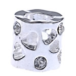 Beads European aliazh zink, Alloy zink, Tub, pa karrem & me diamant i rremë, , nikel çojë \x26amp; kadmium falas, 9x8.50mm, : 4.5mm, 10PC/Qese,  Qese