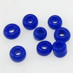 Opake Glas Rocailles, Glas-Rocailles, rund, Volltonfarbe, blau, 2x1.90mm, Bohrung:ca. 1mm, verkauft von Tasche