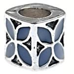 Beads European aliazh zink, Alloy zink, Kub, asnjë, pa karrem & smalt, blu të errët, , nikel çojë \x26amp; kadmium falas, 7.80x7.50mm, : 4.5mm, 10PC/Qese,  Qese