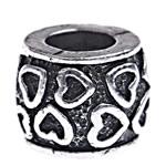 Beads European aliazh zink, Alloy zink, Daulle, pa karrem, , nikel çojë \x26amp; kadmium falas, 8x10mm, : 5mm, 10PC/Qese,  Qese