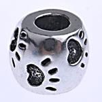 Beads European aliazh zink, Alloy zink, Daulle, pa karrem, , nikel çojë \x26amp; kadmium falas, 10.50x8.50mm, : 4.8mm, 10PC/Qese,  Qese